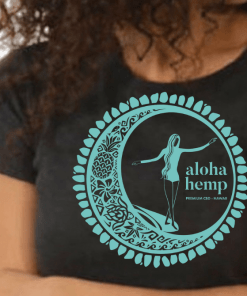 Aloha Hemp Womens T-Shirt - Close Up