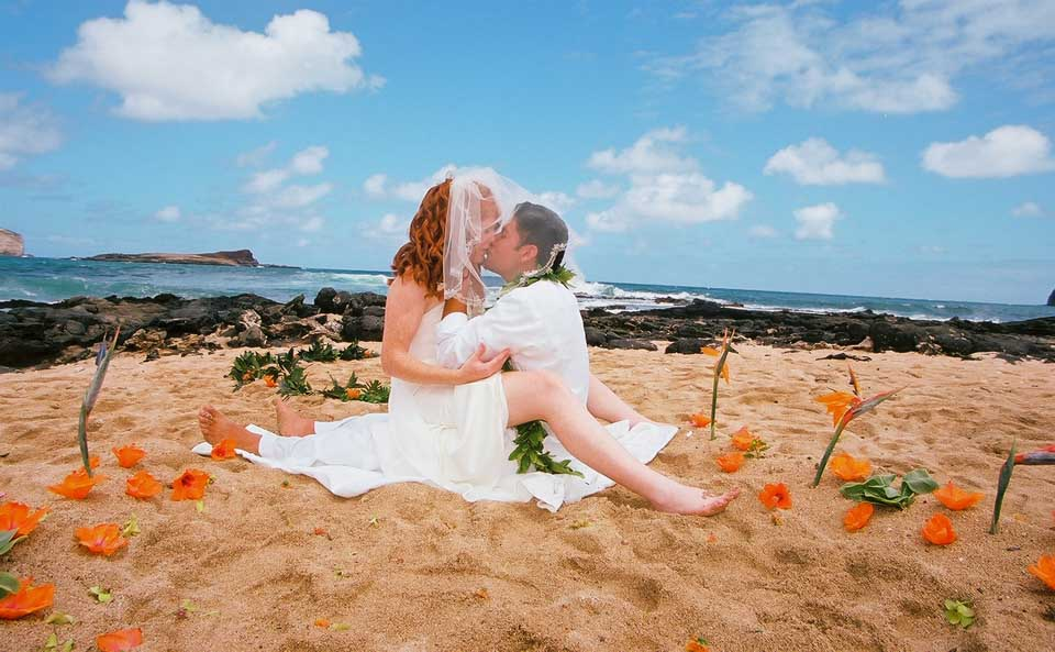 Island Beach Wedding