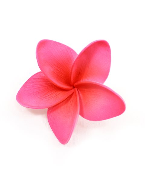 Pink Single Plumeria Hair Clip 25 AlohaOutlet