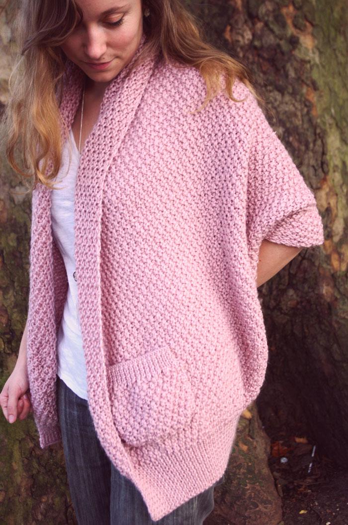 Un seul grand rectangle à tricoter