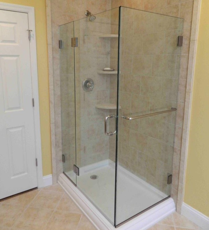 shelves with your custom tiled shower