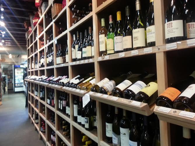Wine at Farmers Market, 3rd & Fairfax.