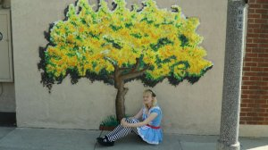 Mary as Alice in Wonderland in 2010.