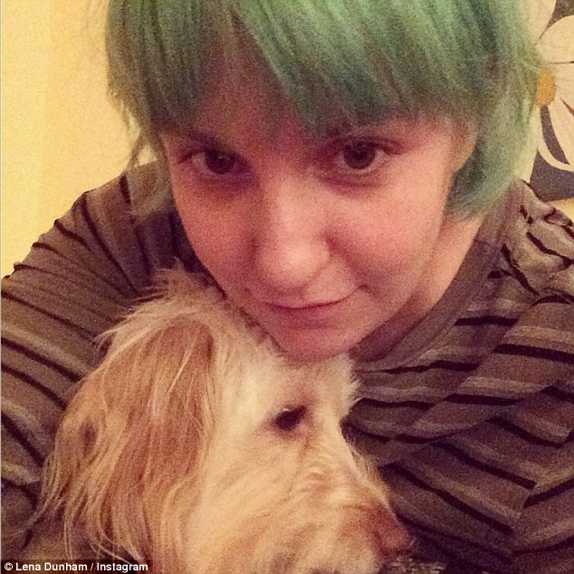 Love her selfies with her dog.