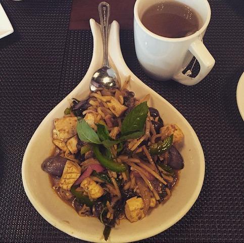 Gluten-free Spicy Tofu Eggplant at BUA Thai.