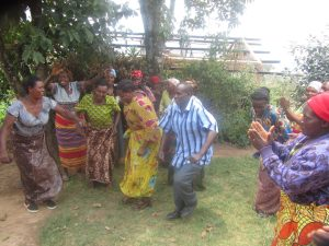 Members of the NFPA dance on receipt of their new loan