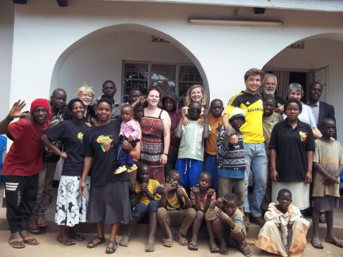 The team and clients in Uganda