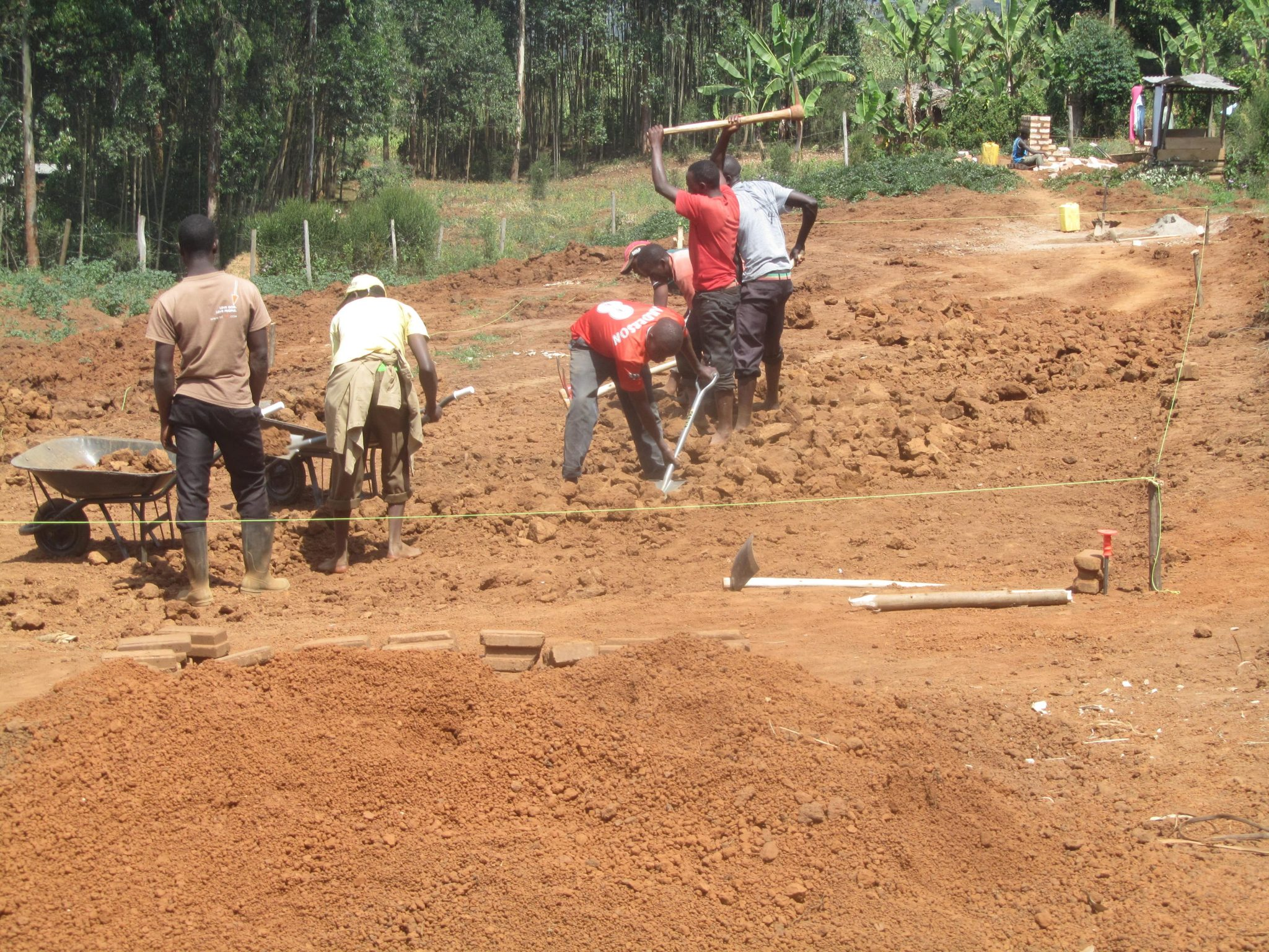 Levelling of the Construction Site
