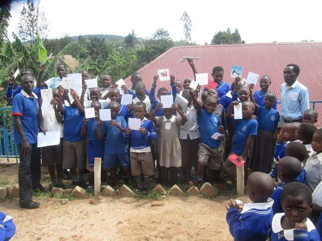 Sponsored children writes letters to sponsors