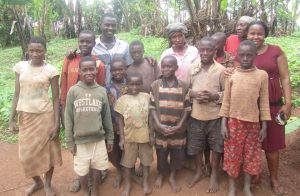 Alice's neighbours, including many children who are not in school