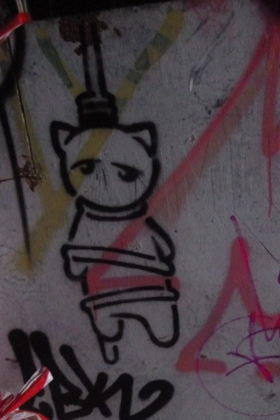 Hängende Streetart
