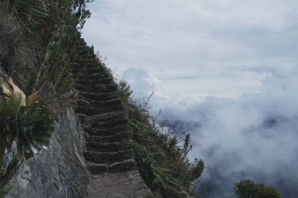 """""""Stairway to heaven"""" auf dem Montaña Macchu Picchu"""