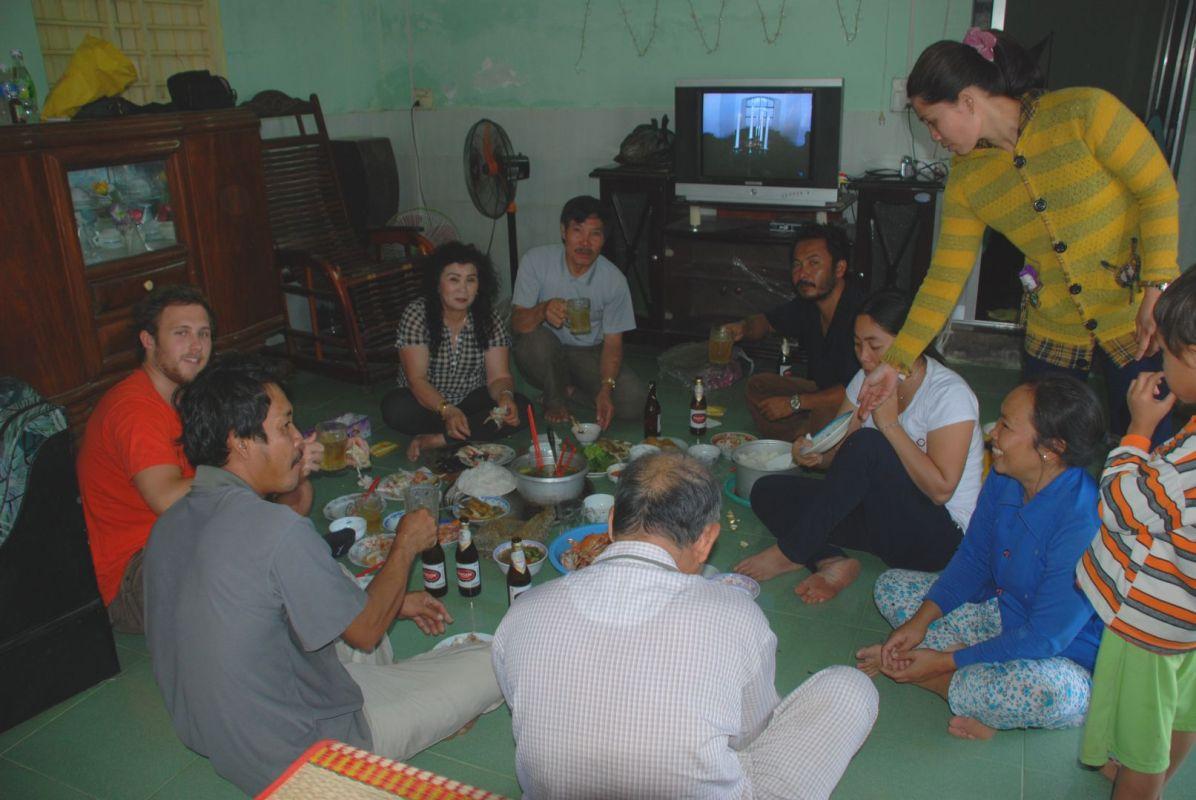 Frühstück mit unseren Gastgebern
