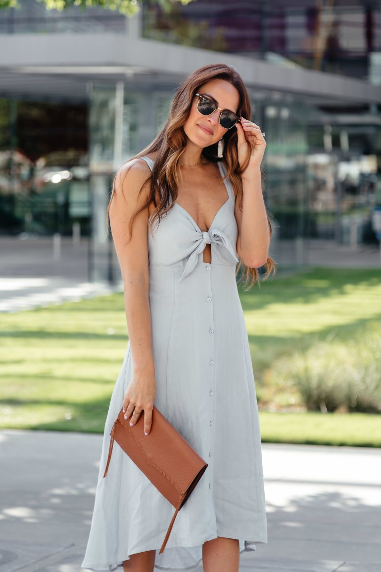 Tie Front Trend featuring a roundup of the cutest tie front dresses, tops, rompers, and swimsuits via A Lo Profile.
