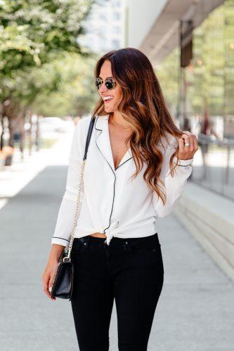 Pajama top trend via A Lo Profile
