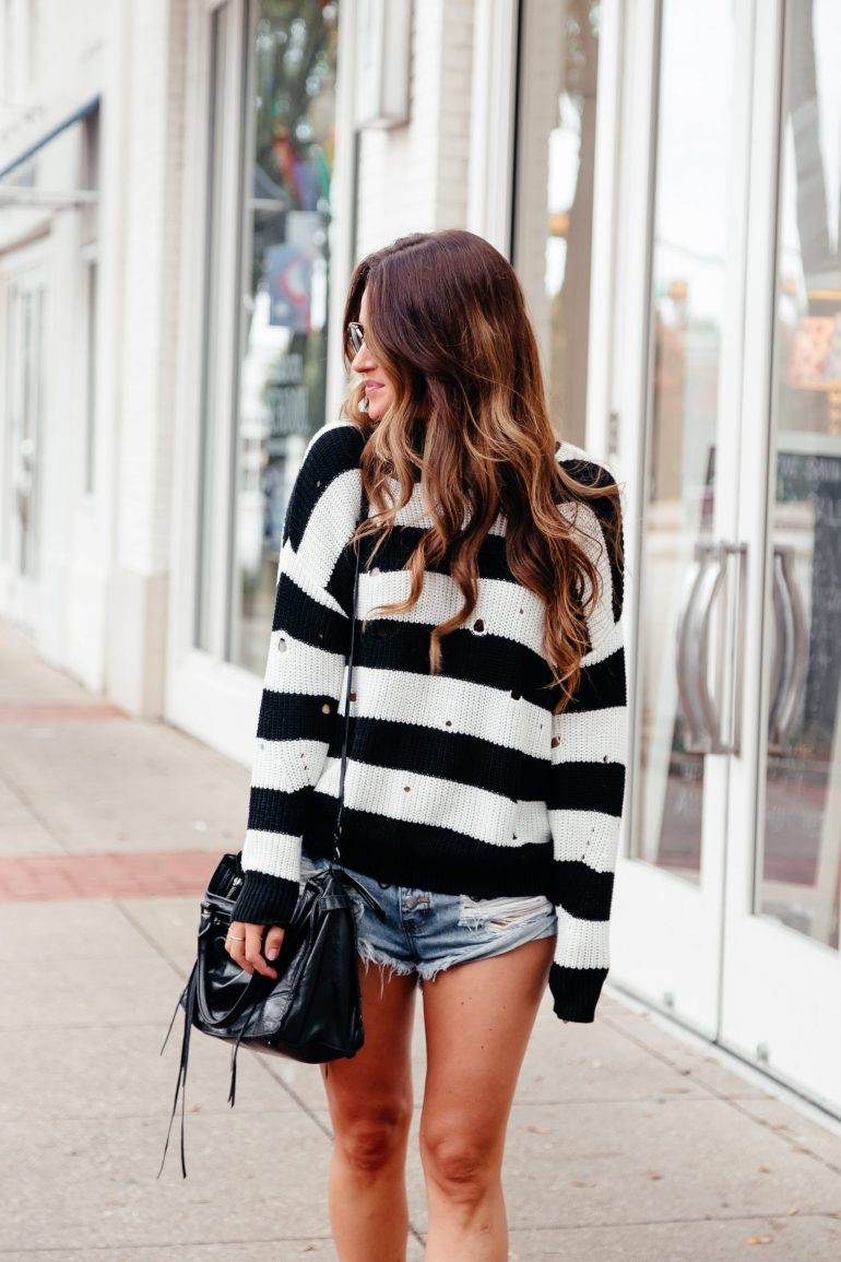 Sweaters & Shorts- my fav early Fall combo via A Lo Profile.