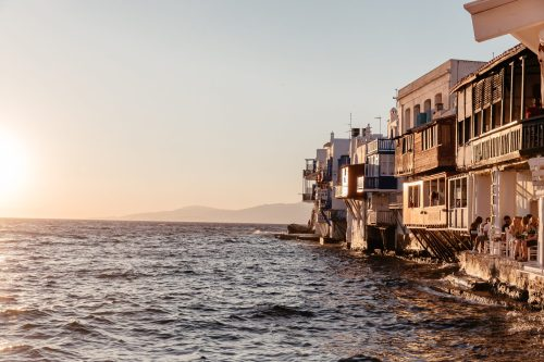 Mykonos Travel Guide featuring where to stay, where to eat, what to do, and travel tips via A Lo Profile.