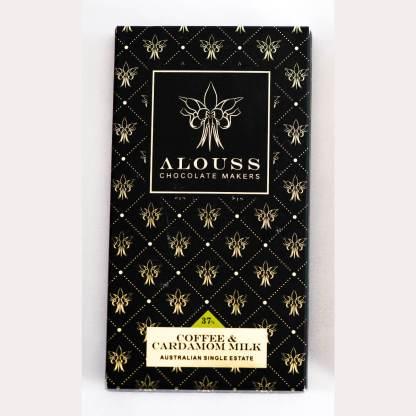 Alouss Coffee & Cardamom Milk Chocolate Bar
