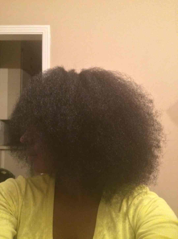 blown out natural hair