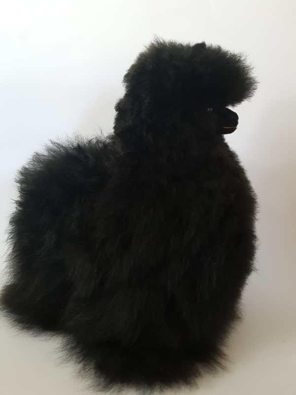 alpaca 30 cm baby zwart