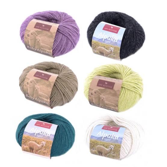 Alpaka Wolle naturgefärbt