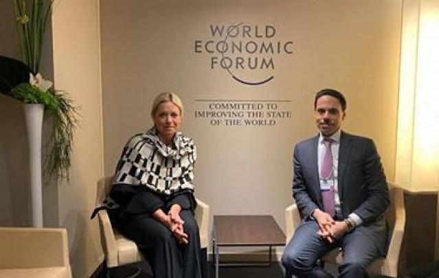 جانب من لقاء وزير الخارجية السعودي