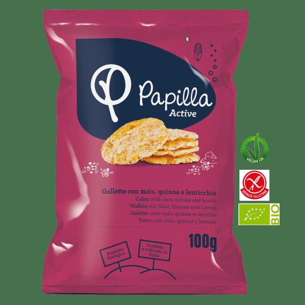 Gallette con Mais, Quinoa e Lenticchie Biologico
