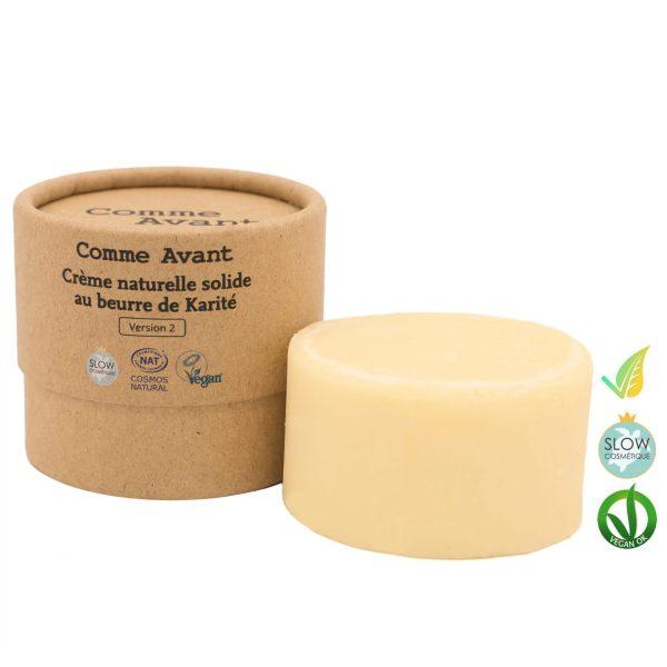 Crema Naturale Solida con Burro di Karitè Biologico