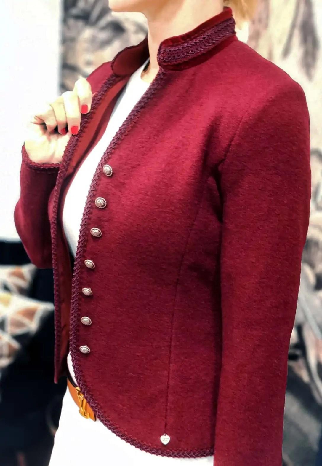 Damen Walkjanker Amelia in Rot