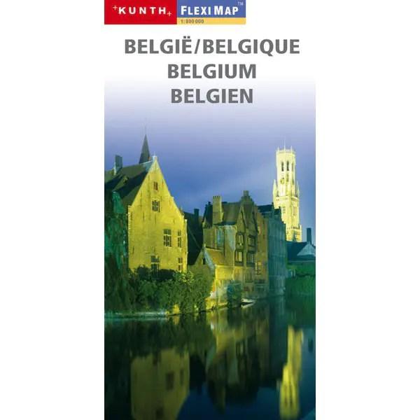 wegenkaart België gelamineerd