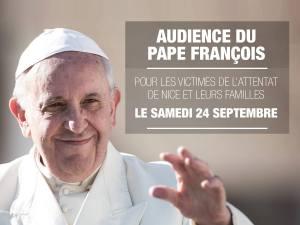 Audience du Pape François pour les victimes de l'attentat de Nice et leurs familles
