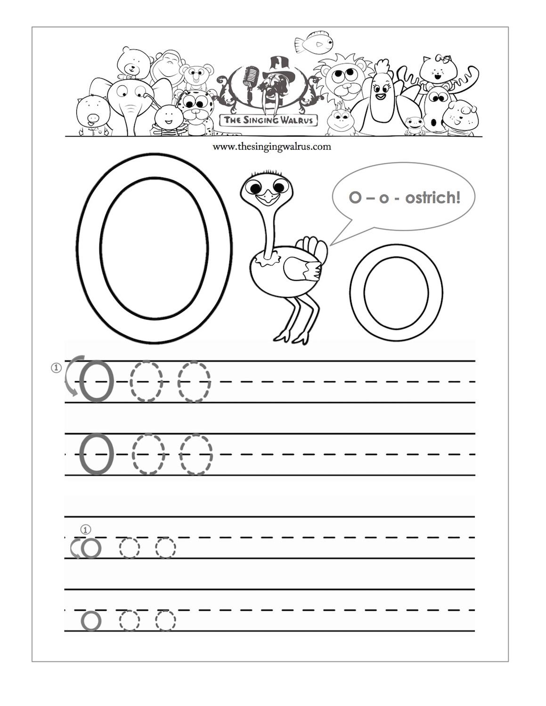 Alphabet O Worksheets