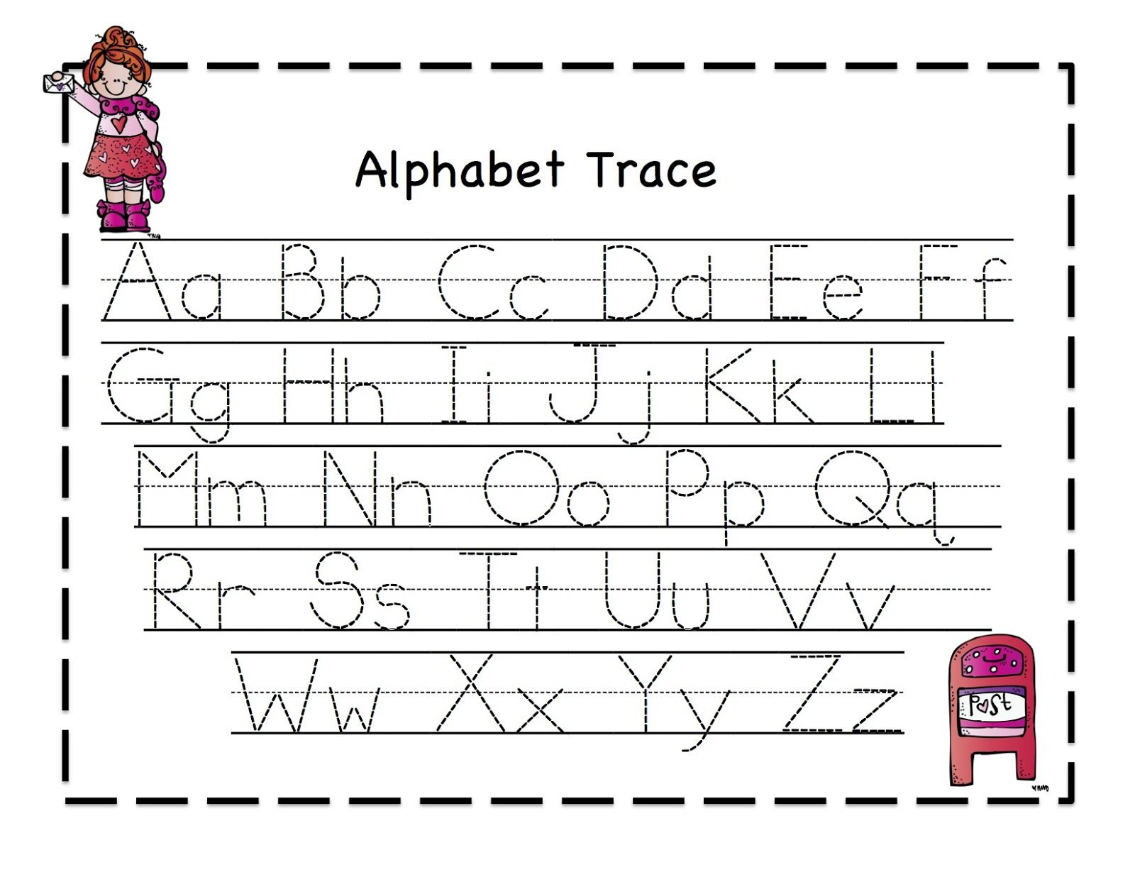 Alphabet Tracing Worksheets For Kindergarten