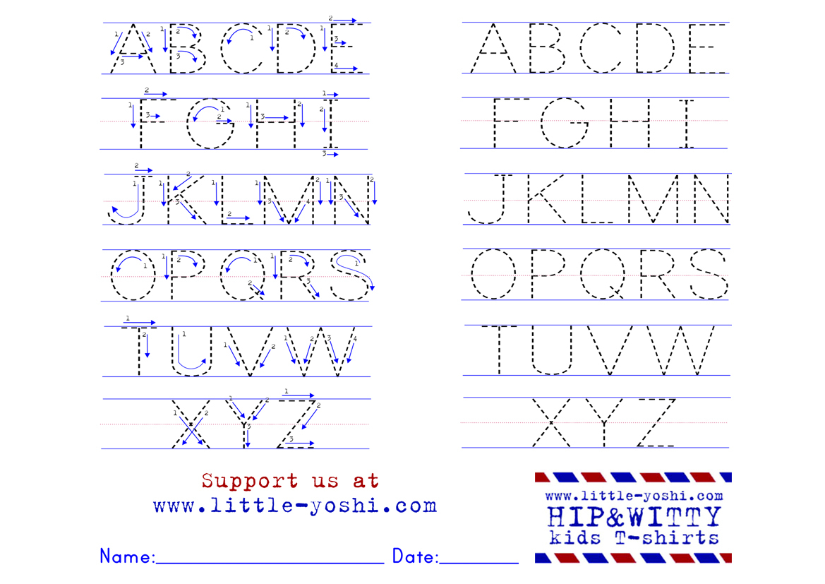 Alphabet Tracing Worksheets With Arrows