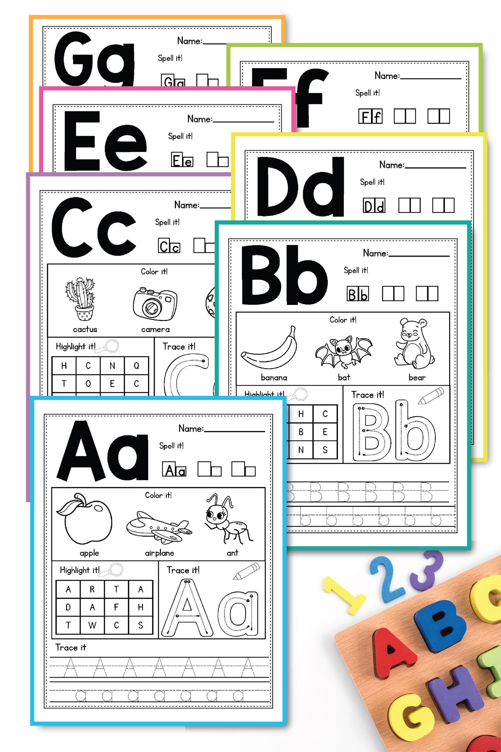 Alphabet Worksheets Az