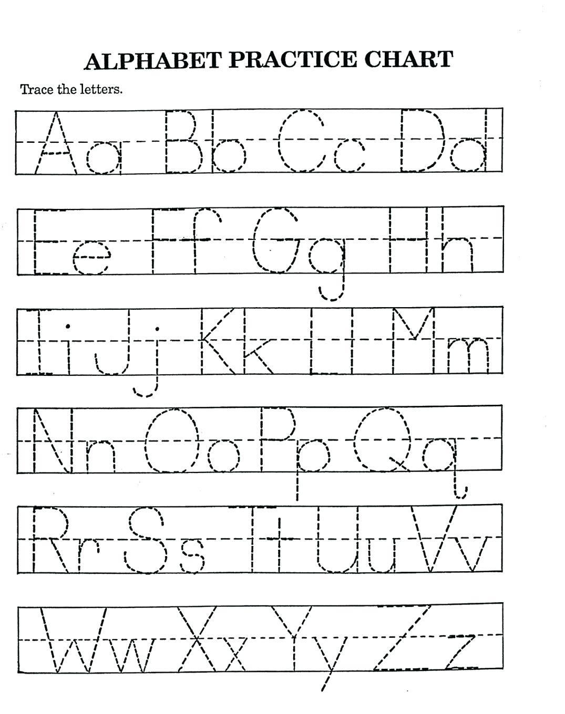 A Z Alphabet Worksheets Kindergarten