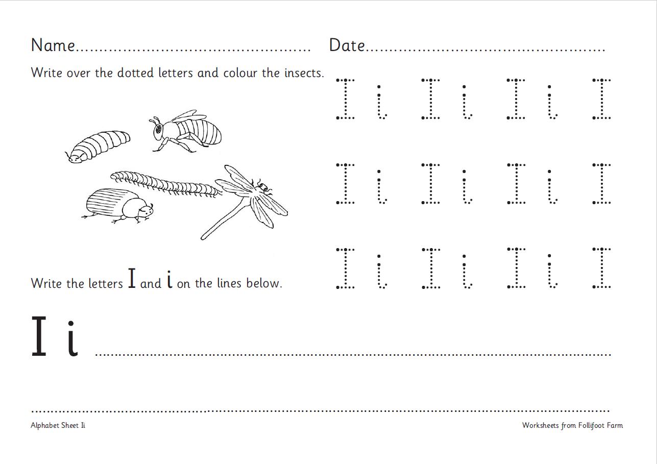 Alphabet Worksheets Ks1