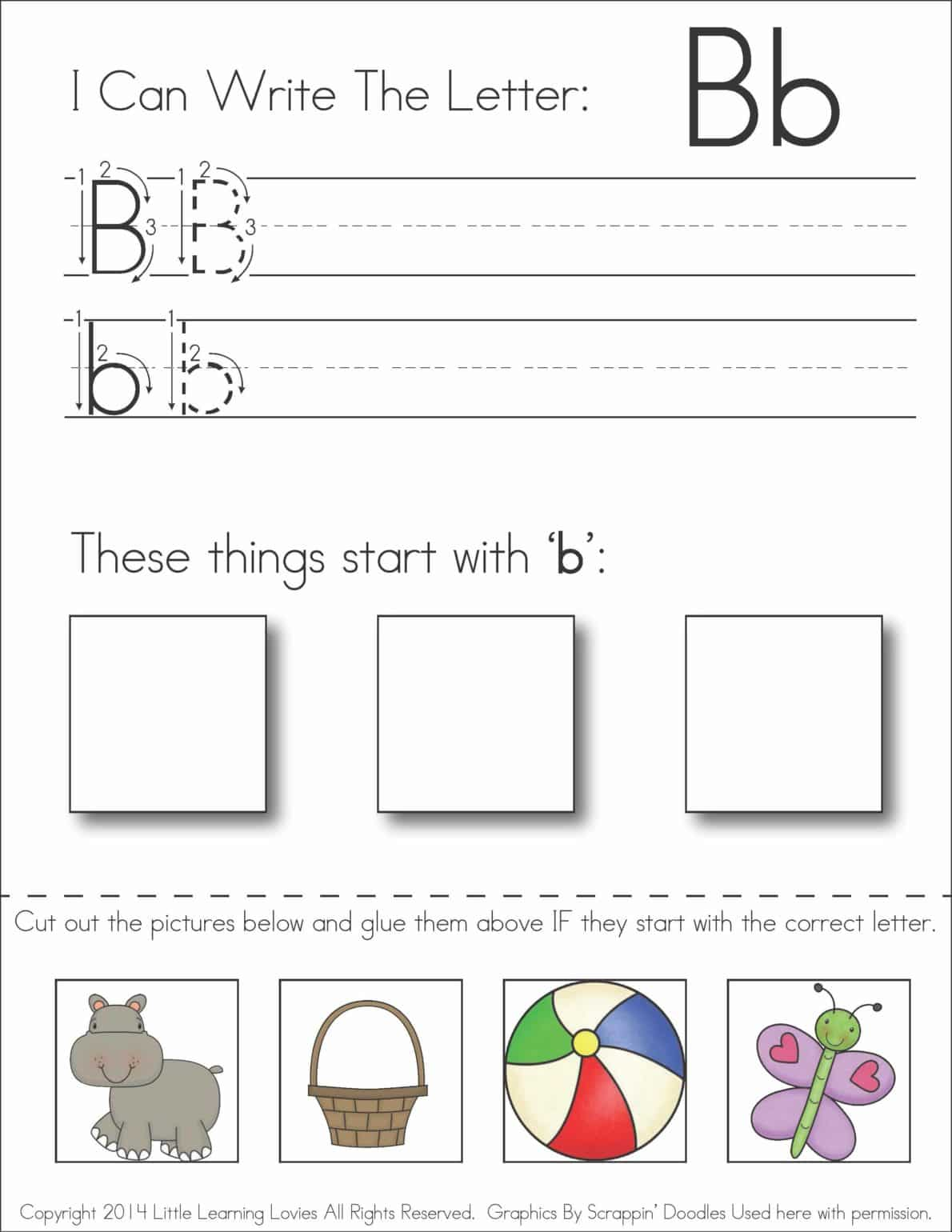 Letter H Worksheets Cut And Paste