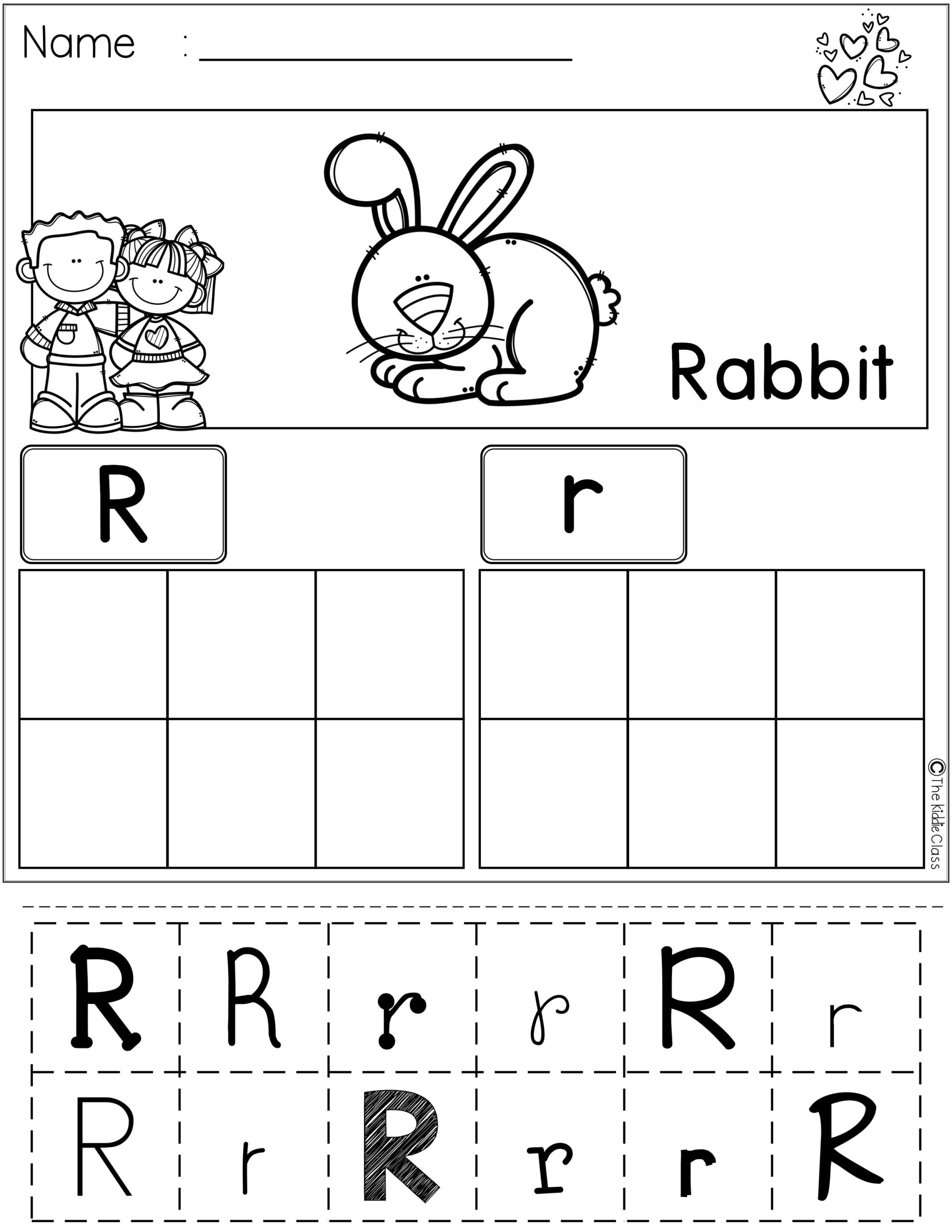Alphabet Worksheets Cut And Paste