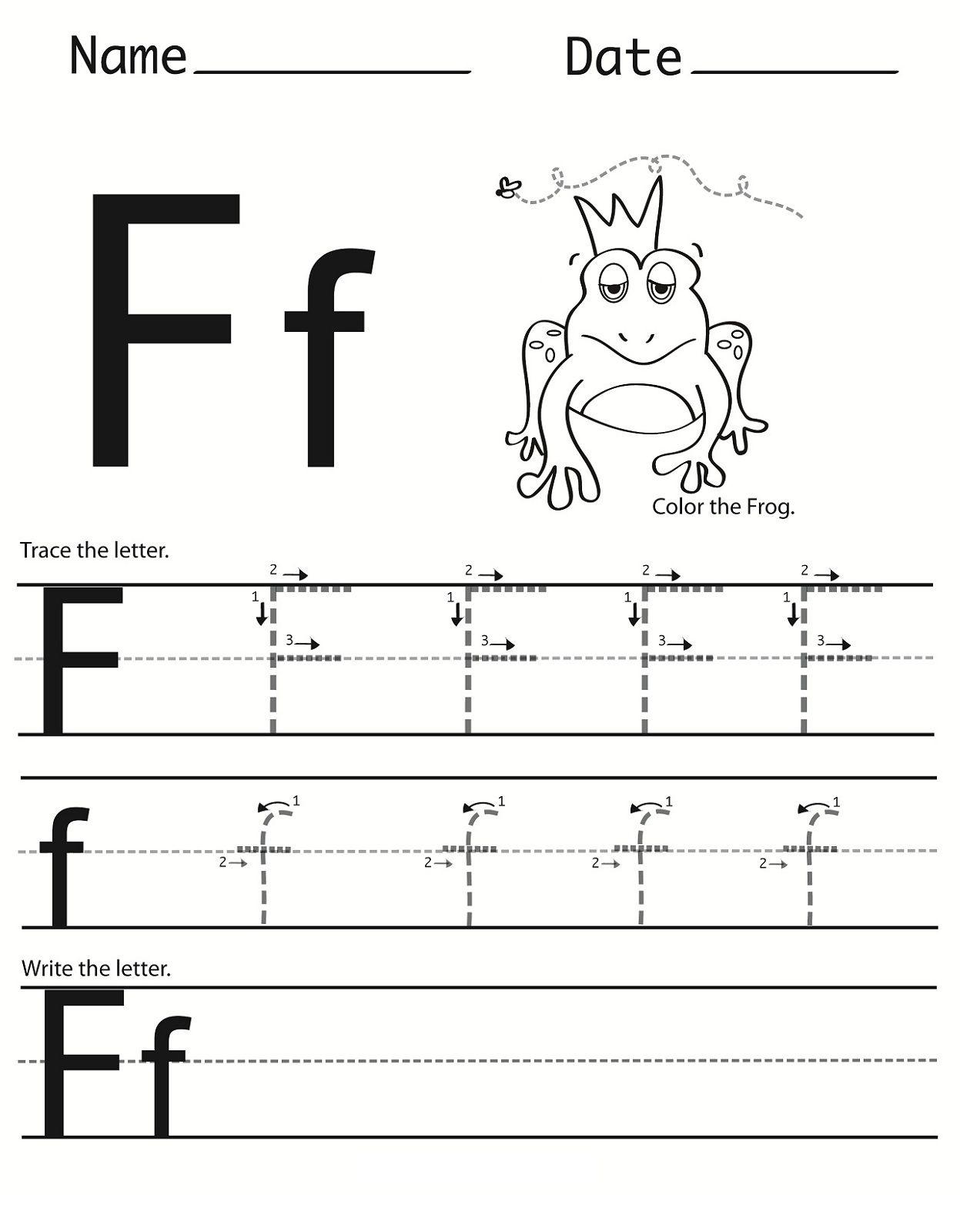 F Letter Worksheets Preschool