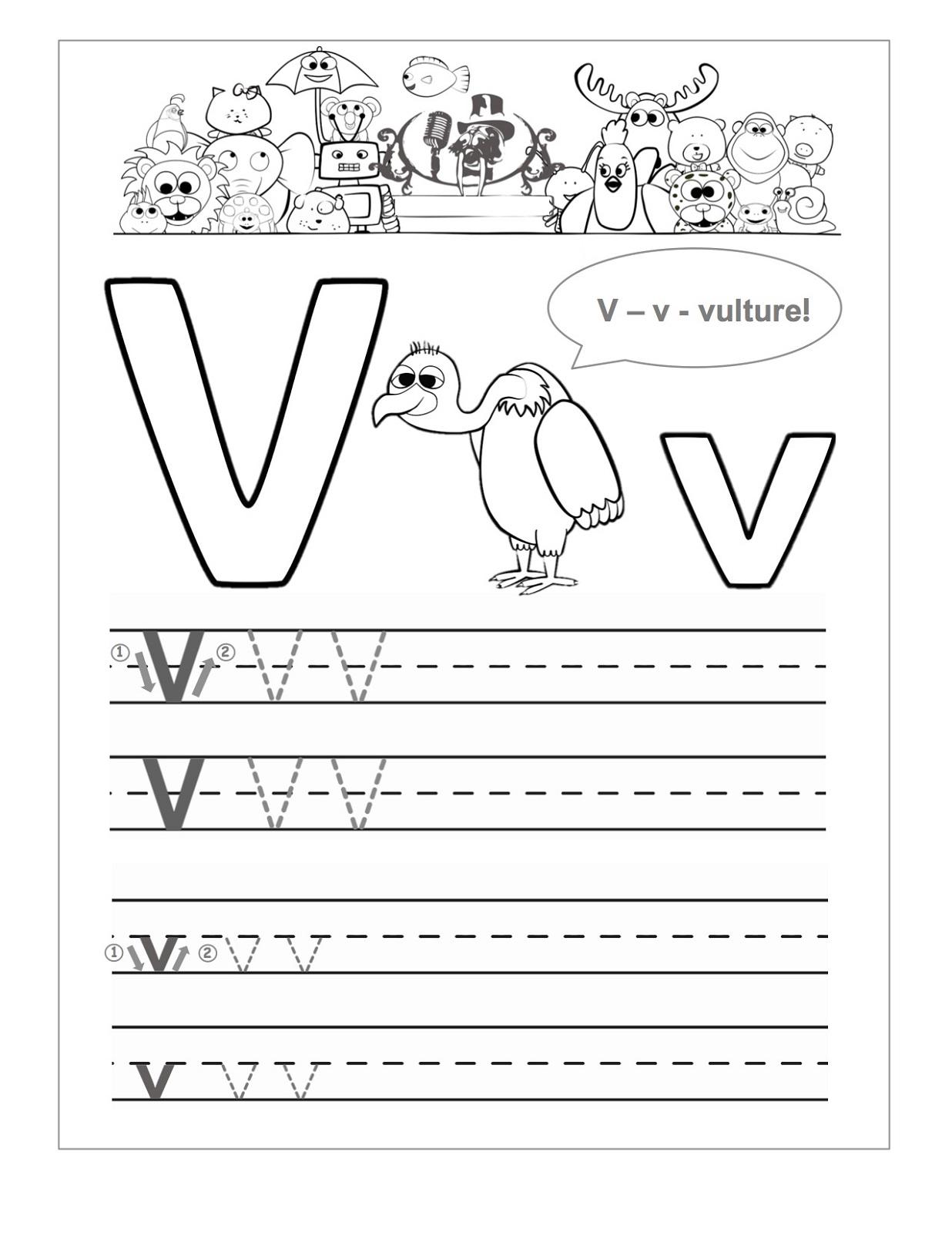 Letter V Worksheets Sparklebox