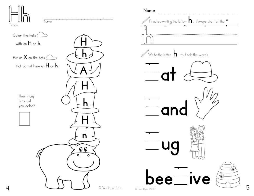 Letter H Worksheets For Toddlers