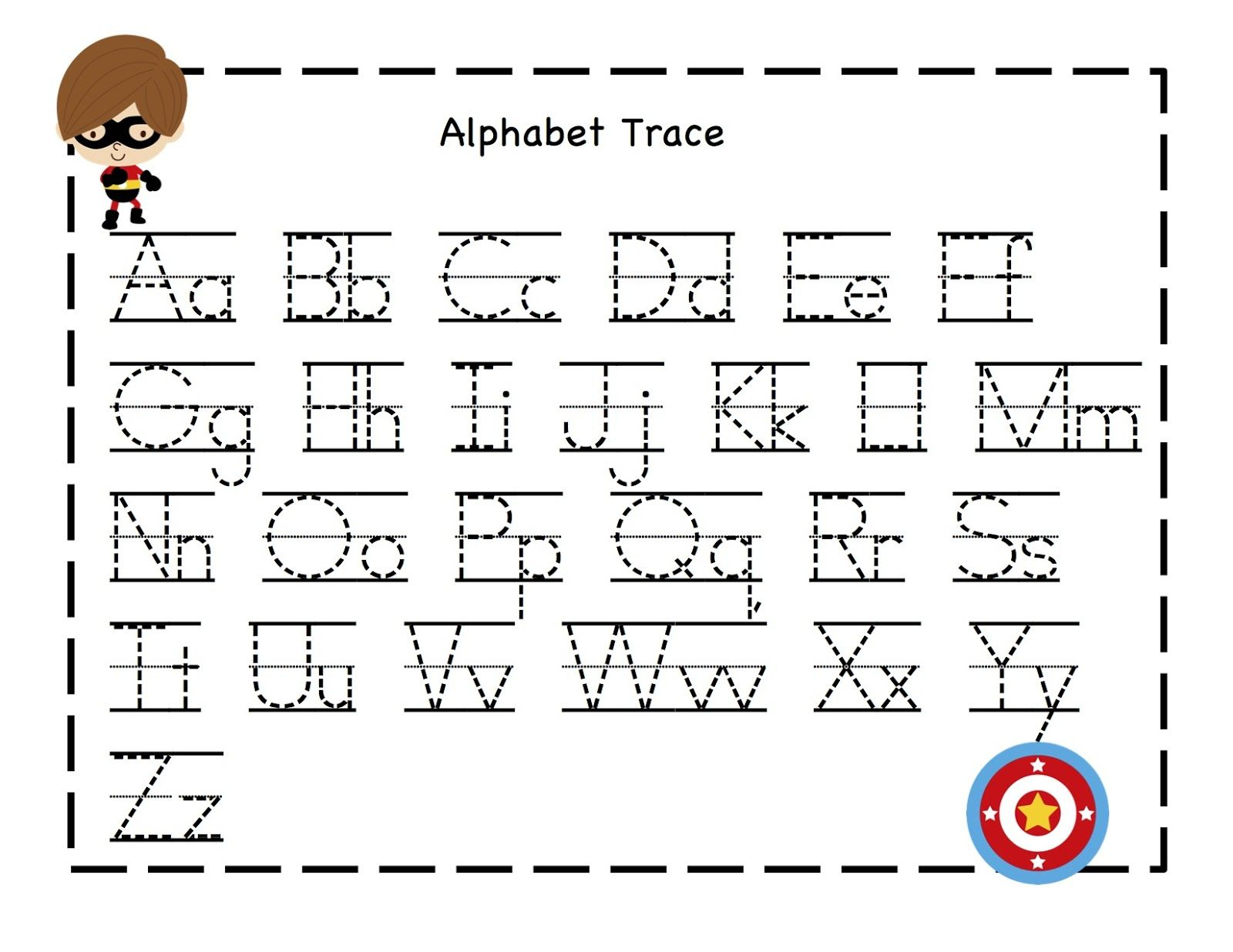 Pre K Alphabet Worksheets Printable