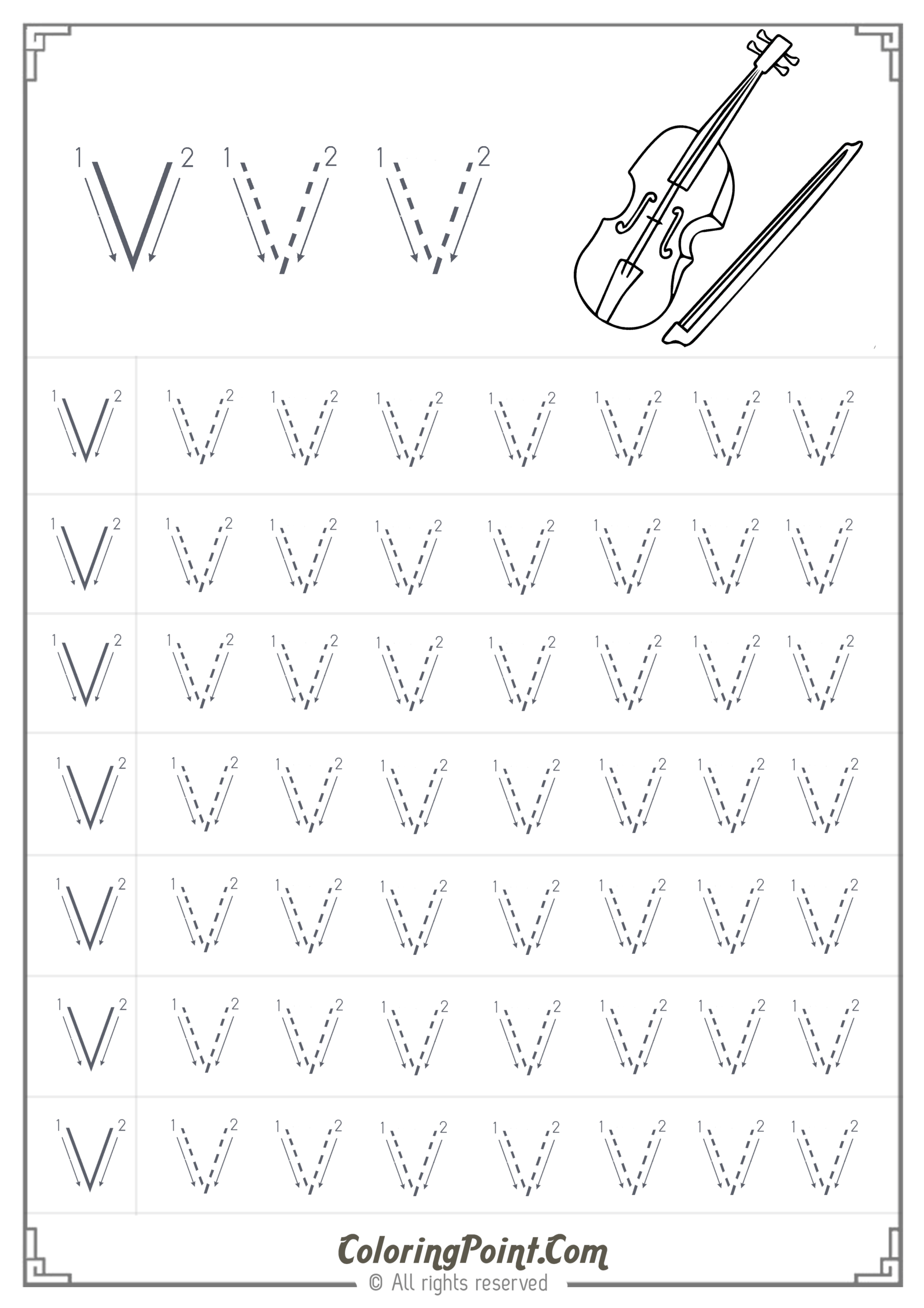 Letter V Worksheets Sparklebox