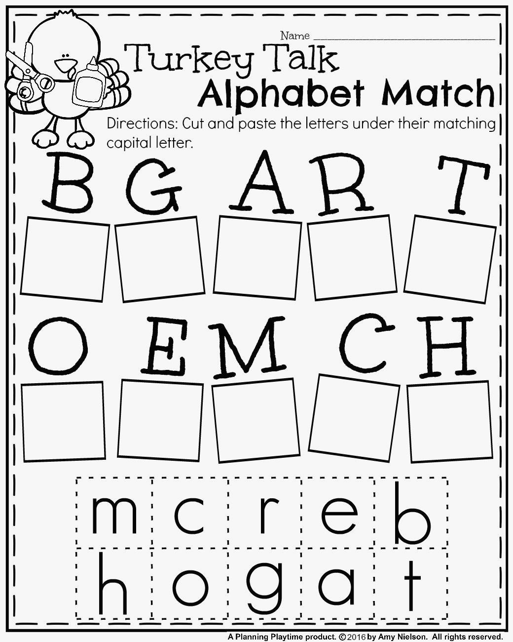 Free Alphabet Worksheets For 1st Grade