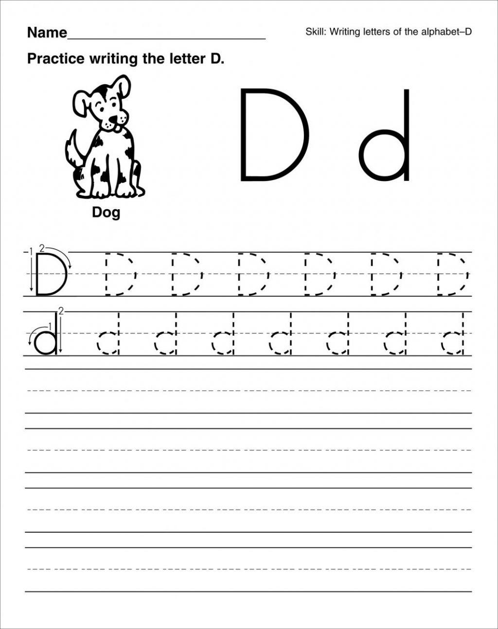 Letter D Worksheets For Preschool