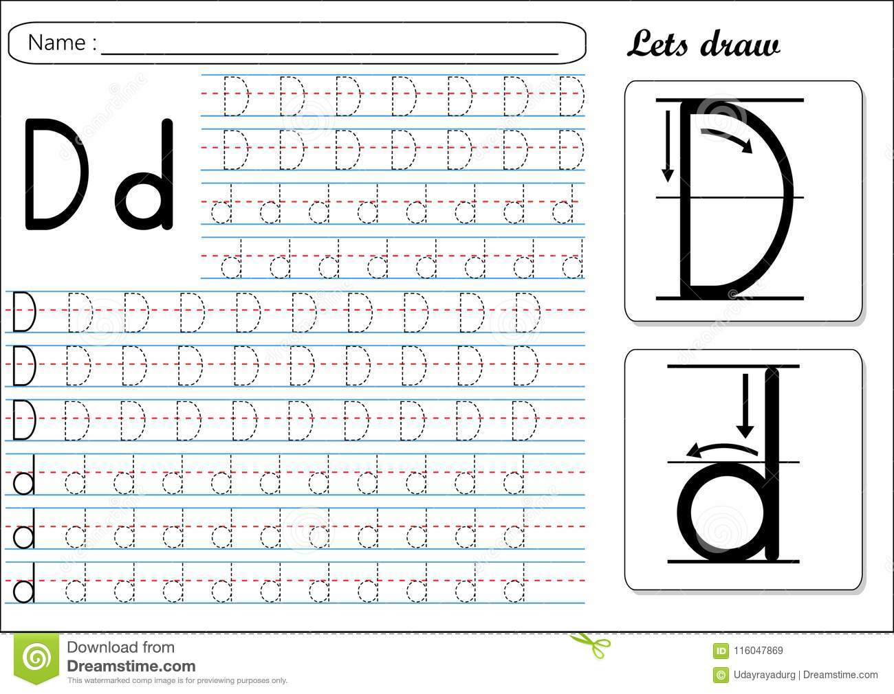 Letter Dd Worksheets