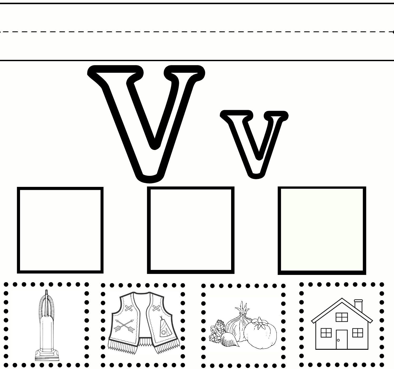Letter V Worksheets Pre K