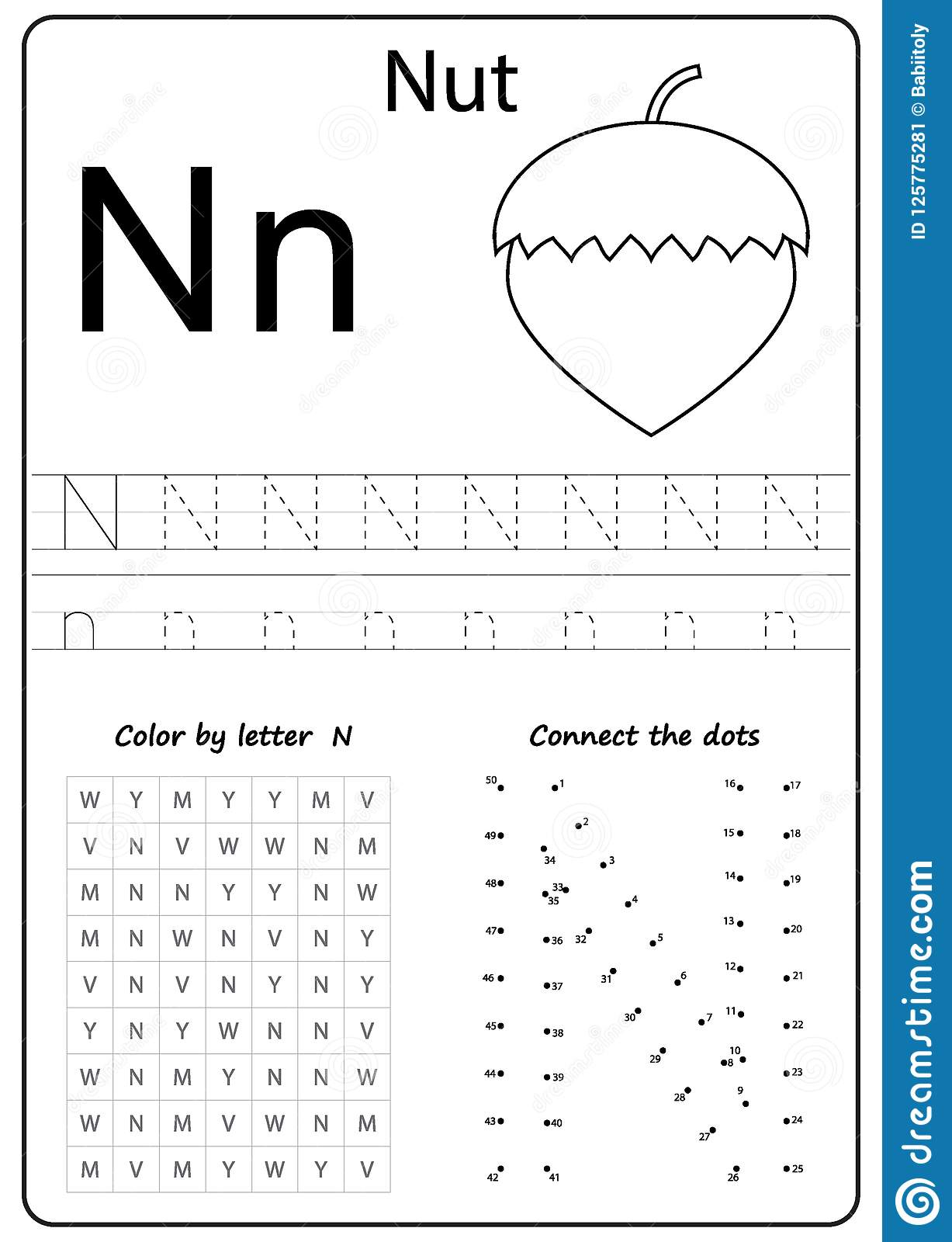 Letter N Worksheets For Kindergarten