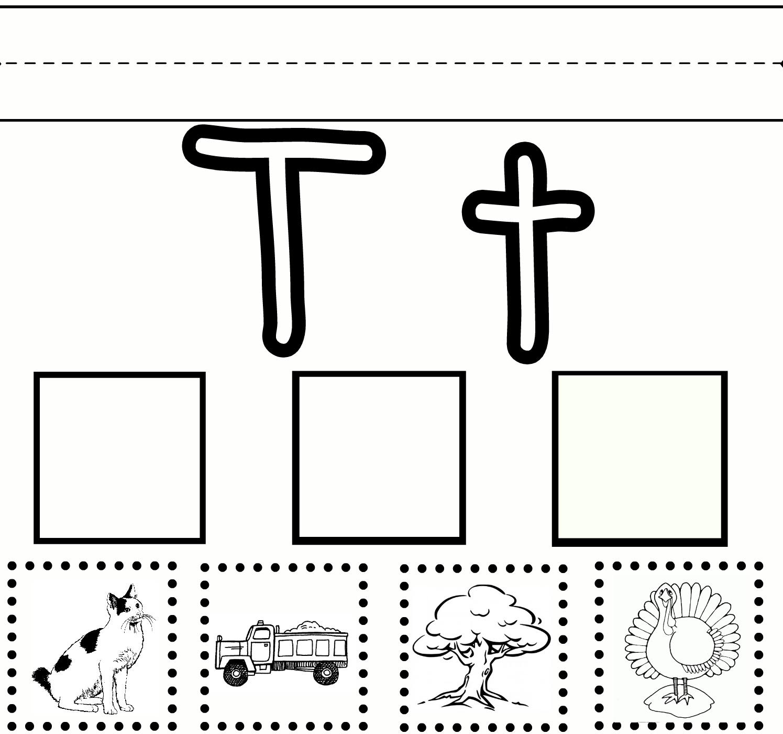 T Letter Worksheets Kindergarten